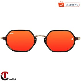 Collet Mirrored lens Rectangular Frame Sunglasses for Men , Pack of 1