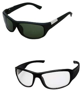 Combo Of Night Drive Black Day Night Driving UV Protection Sunglasses