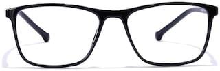 Coolwinks Black Full Frame RetroSquare Eyeglasses for Men