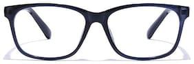 Coolwinks E16A6259 Glossy Blue Full Frame RetroSquare Eyeglasses for Men and Women
