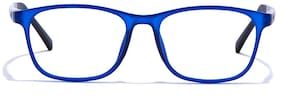 Coolwinks Matte Blue Full Frame RetroSquare Men Eyeglasses