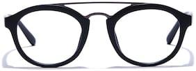 Coolwinks Matte Black Full Frame Round Men Eyeglasses