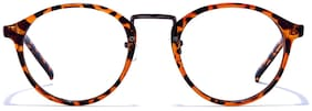 Coolwinks Orange Full Frame Round Unisex Eyeglasses