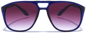 Coolwinks Purple Gradient Retro Square Sunglasses for Men and Women