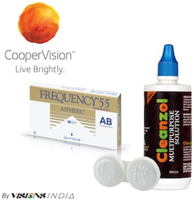 Cooper Vision Frequency 55 Monthly Contact Lens By Visions India 6 Lens Pack By Visionsindia