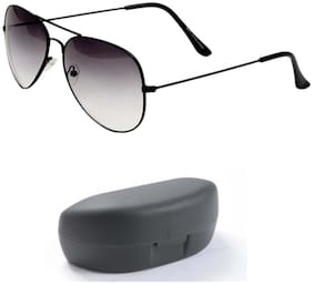 D Debonair Grey Aviator Men's Sunglass