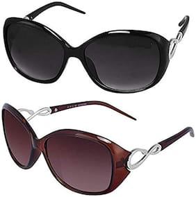 D DEBONAIR Mirrored lens Oval Frame Sunglasses for Women