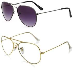 D DEBONAIR Regular lens Aviator Sunglasses for Men