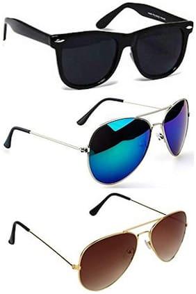 D DEBONAIR Mirrored lens Wayfarer Sunglasses for Men , 3