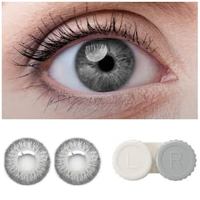 D DEBONAIR Grey Monthly Contact Lenses - 1 lens pack