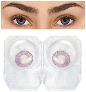 D DEBONAIR Violet Monthly Contact Lenses - 1 lens pack