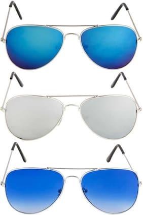 David Martin Unisex Aviators Sunglasses