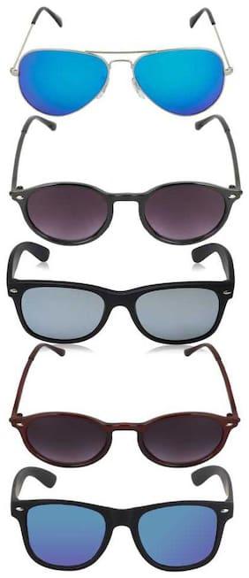 Men;Unisex Aviators;Wayfarers;Oval Gradient Lens;Mirrored Lens;UV Protected Lens