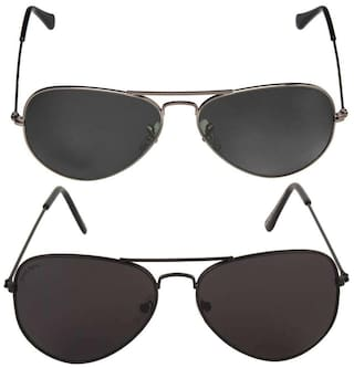 4fc0541686699 Buy David Martin Black Aviator Medium Sunglasses Online at Low ...