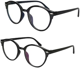 David Martin Plastic Regular Lens Round Eyewear For Men