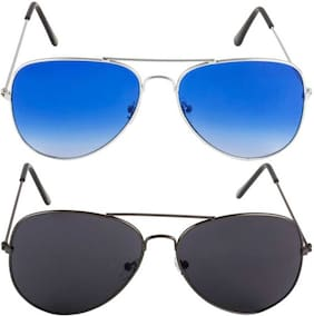 David Martin Unisex Aviators Sunglasses