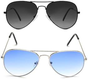 David Martin Men Regular lens Aviators - Pack of 2