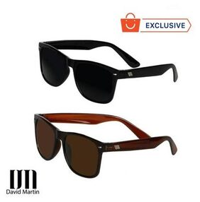 David Martin Combo of Black & Brown Wayfarer Sunglass