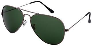 David Martin Men Regular Green Aviators Sunglasses Medium