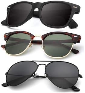 DAVIDSON Unisex Aviators Sunglasses