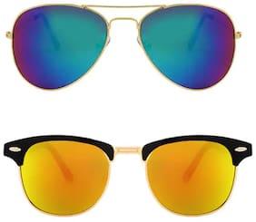 Davidson Anti glare lens Aviator Sunglasses for Women
