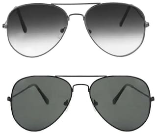 Davidson Men Anti glare lens Aviators - Pack of 2