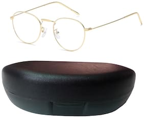 Davidson Gold Round Full Rim Eyeglasses for Men - 2