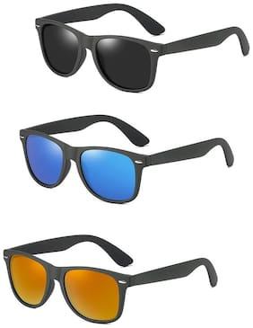 Davidson Men Anti glare lens Aviators - Pack of 3