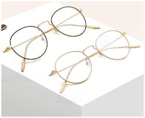 Davidson Gold Round Full Rim Eyeglasses for Men - 2