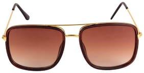 DAVIDSON Regular lens Square Frame Sunglasses for Men - Pack of 1