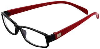 Davidson Red Wayfarer Full Rim Eyeglasses for Men