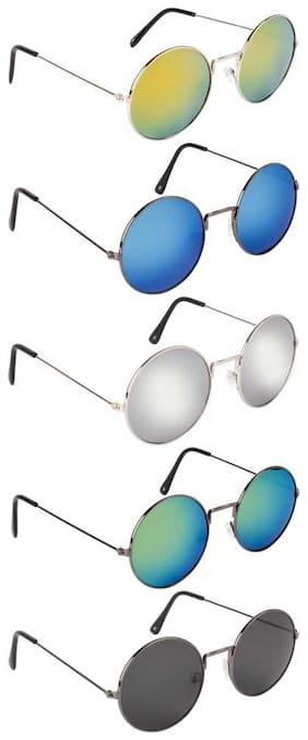 DAVIDSON Unisex Round Sunglasses