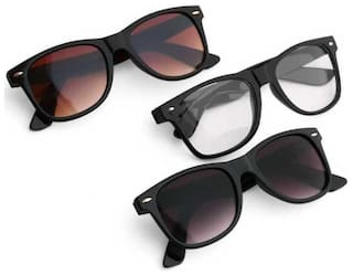 DAVIDSON Men Regular Lens Wayfarers - Pack of 3