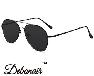 830e16ab16 Buy D DEBONAIR Black Aviator Medium Sunglasses Online at Low Prices ...