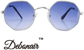 D DEBONAIR Polarized lens Round Frame Sunglasses for Men