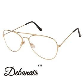 D DEBONAIR Transparent Aviator Medium Sunglasses