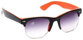Eddy's Eyewear Orange Wayfarer Sunglasses (Size-52)(UV Protected)(Medium Size)