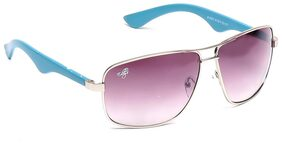 Eddy's Eyewear Grey Square Aviator Sunglasses (Size-55)(UV Protected)(Medium Size)