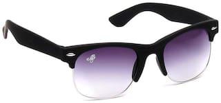 Eddy's Eyewear Black Wayfarers Sunglass (Size-52)