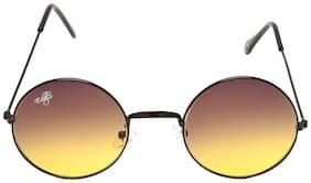Eddy'S Eyewear Black Round Frames Sunglasses (Size-50)