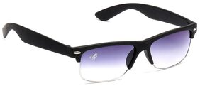 Eddy's Eyewear Slim Mat Grey Square Wayfarer Sunglasses (Size-52)(UV Protected)(Medium Size)