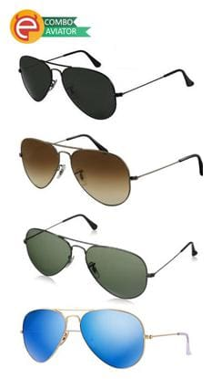 Ediotics Polarized lens Aviator Sunglasses for Women