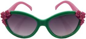 Els Green & Pink Oval Eyeglasses for Kid's