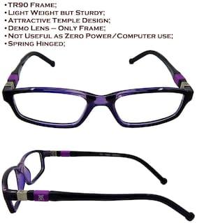 Els Purple Rectangle Eyeglasses for Kid's