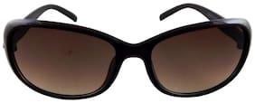 ELS Woman Sunglasses;Shades Butterfy Shape Woman Sunglass-K2205-Brown-Brown-S