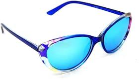 Els Mirrored lens Cat Eye Sunglasses