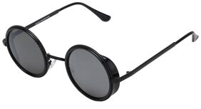 Estycal Black Round Sunglassess