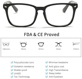 EYEGLASH Blocking Glasses,Computer Reading, For Men,Anti Eyestrain & UV Glare LI8082