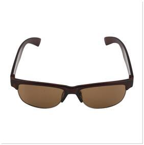 c66b203808b7 Fashno Half Rim Brown Wayfarer Sunglass (Uv Protected)(Medium Size)