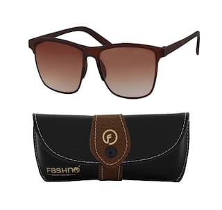 8086446af939d Buy Fashno Men brown lans Wayfarer UV Protected Sunglass Online at ...
